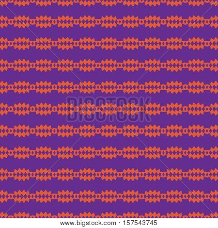 Strip of lozenges seamless pattern. Fashion graphic background design. Modern stylish abstract texture. Color template for prints textiles wrapping wallpaper website. Stock VECTOR illustration