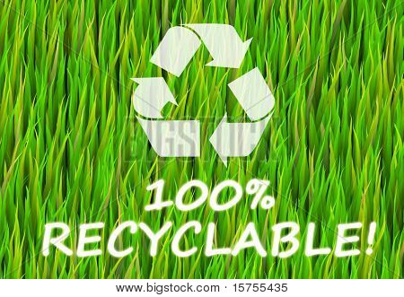 100% Recyclable and Pure Now Abstract Background