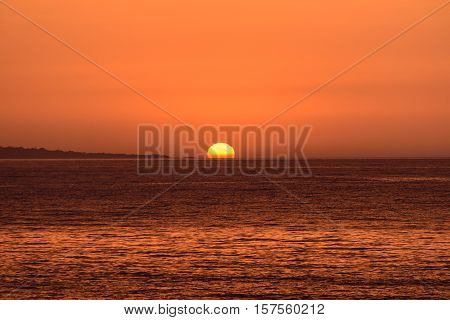 The magnificent sunset at the seaside. Beauty of nature.
