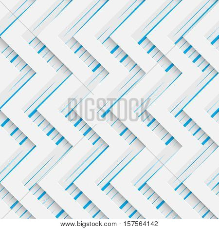 Seamless Zig Zag Pattern. Abstract Web Background. Modern Stylize Wallpaper. 3d Tech Design. Wrapping Paper Texture