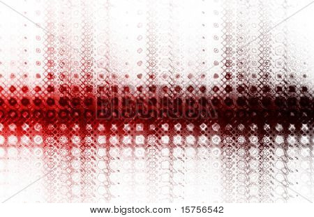 Modern Technology Background in a Color Burst