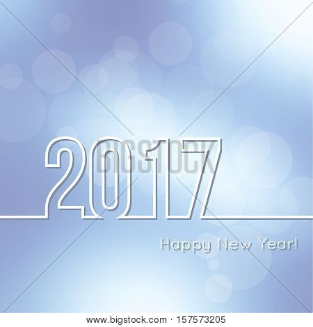 Abstract background with bokeh effect. Vector delicate backdrop. Subtle defocused wallpaper. Soft. Happy New Year 2017. For decorations festivals, xmas, glamour holiday, illuminated, celebration