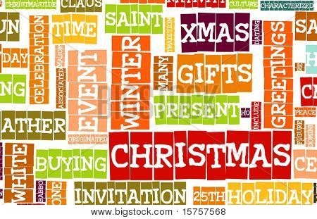 Christmas Creative Stylish Word Art as Background