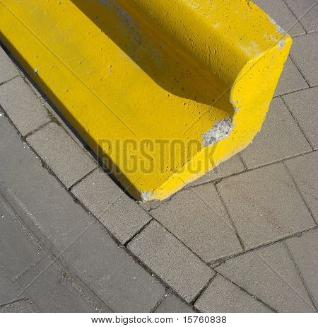 Yellow Concrete Block
