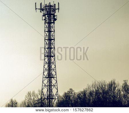 Vintage Looking Telecommunication Aerial Tower