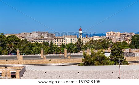 Aerial View From Old Fortress On The City, Corfu