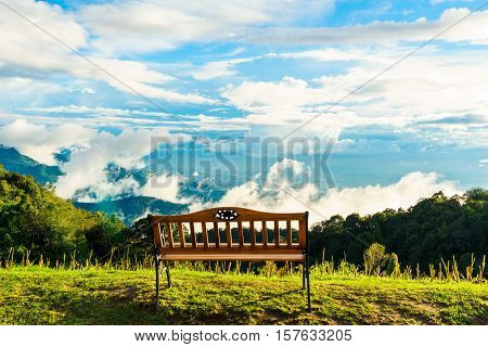 View from Doi Inthanon viewpointchiang mai thailand
