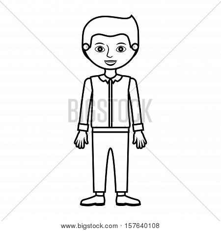 man silhouette with formal shirt and pants vector illustration