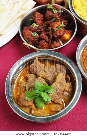 Indian Curries High Angle View