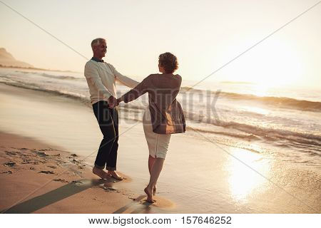 Romantic Mature Couple Enjoying A Day At The Beach
