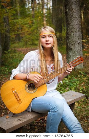 Guitar Player Girl