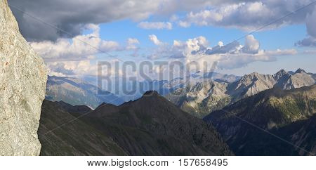 French Alps. Immense range mountain landscape. Panorama
