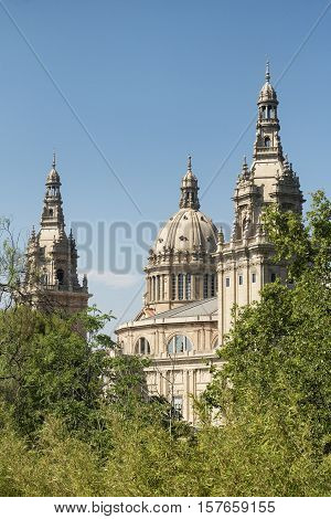 Barcelona (Catalunya Spain): the hill of Montjuich and the Museum of Catalan Art