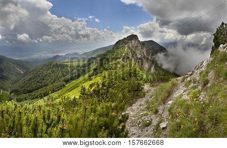Mountain ridge in the Mala Fatra National Park, Slovakia