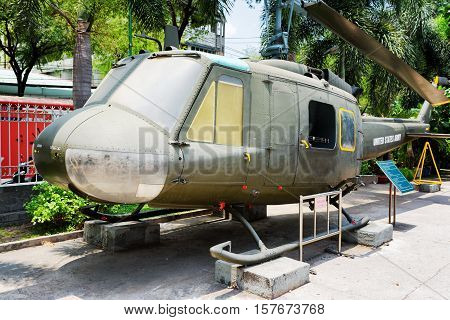 Helicopter Bell Uh-1 Iroquois In War Remnants Museum, Vietnam