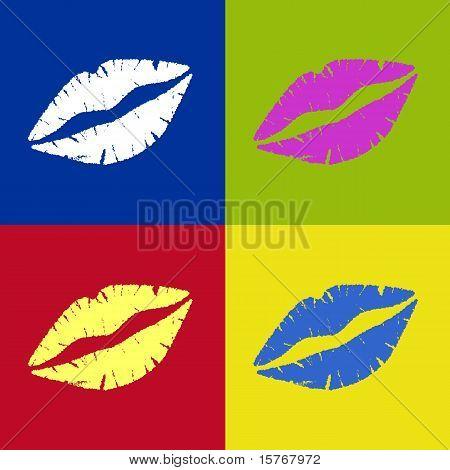 Lipstick Kiss Retro