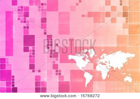 Orange World Wide Business Template Abstract Background