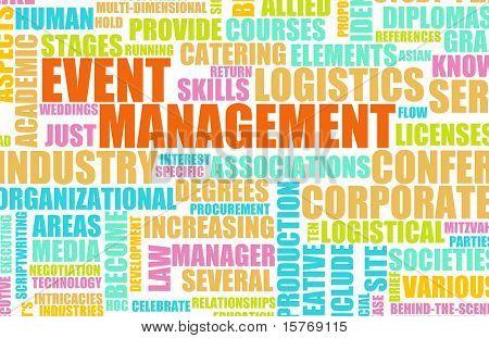 Industria de servicios de gestión de eventos como un arte