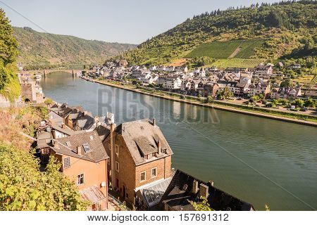 GERMANY - COCHEM - 23 AUGUST 2016: Town of Cochem with river Mosel.