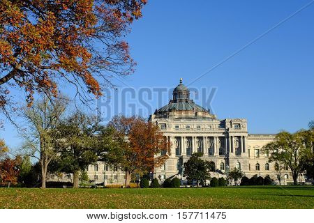 Library of Congress in Autumn - Washington D.C.