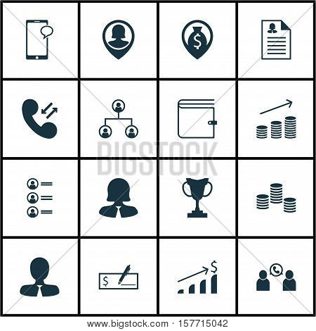 Set Of Management Icons On Money Navigation, Successful Investment And Business Woman Topics. Editab