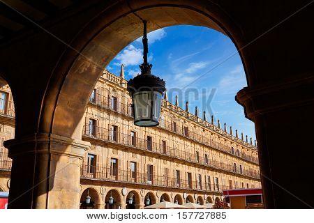 Salamanca Plaza Mayor in Spain along via de la Plata way to Santiago