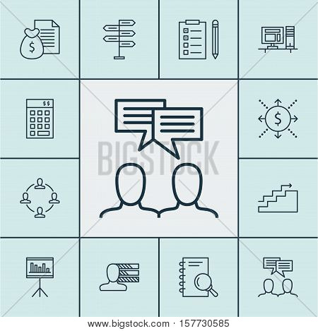 Set Of Project Management Icons On Opportunity, Investment And Money Topics. Editable Vector Illustr