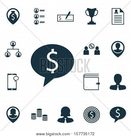 Set Of Management Icons On Tournament, Money Navigation And Messaging Topics. Editable Vector Illust