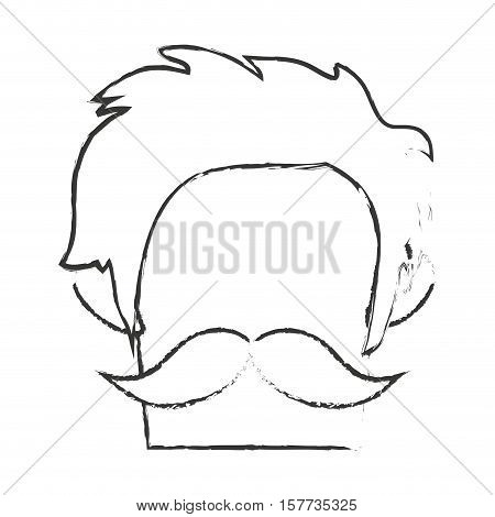 Man icon. Hipster style vintage retro fashion and culture theme. Isolated design. Vector illustration