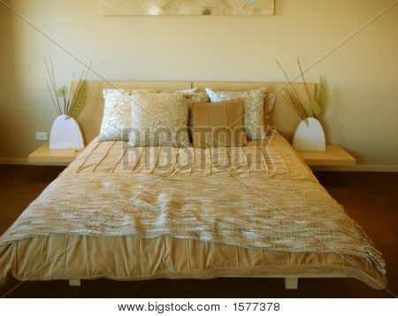 Bedroom With Warm Textures