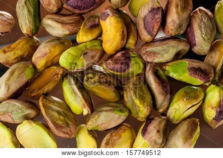 Background image of pistachios