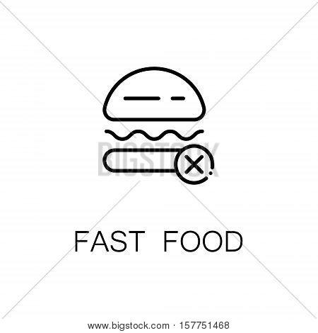 Burger flat icon. Single high quality outline symbol of fast food for web design or mobile app. Thin line signs of burger for design logo, visit card, etc. Outline pictogram of burger