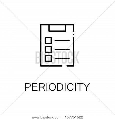 To do list flat icon. Single high quality outline symbol of periodicity for web design or mobile app. Thin line signs of to do list for design logo, visit card, etc. Outline pictogram of to do list