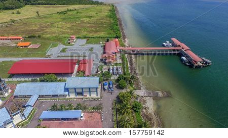Labuan,Malaysia-Nov 22,2016:Newly completed Fisheries Development Authority of Malaysia landing jetty at Kiansam,Labuan island.Labuan had the potential to become the nation's hub of the tuna industry.