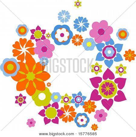 Floral cirle