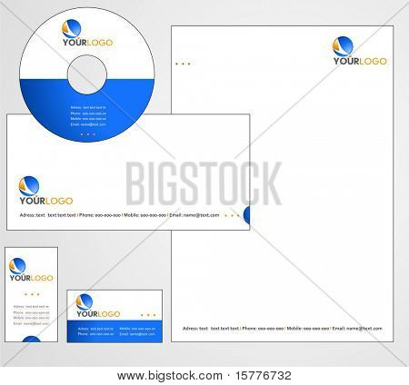 Letterhead Template design - vector