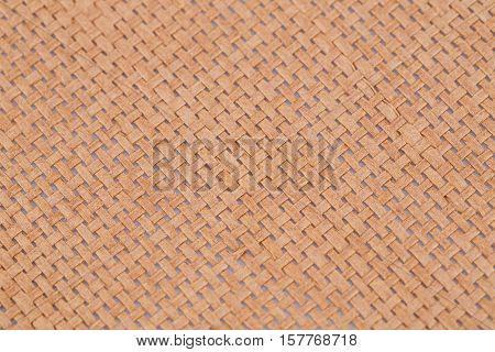 Rattan placemat texture for background close-up image.