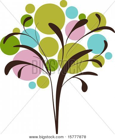 Decorative graphic icon of tree