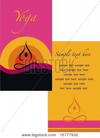 template of yoga brochure - 1