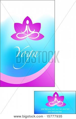 template of yoga / meditation brochure - 2