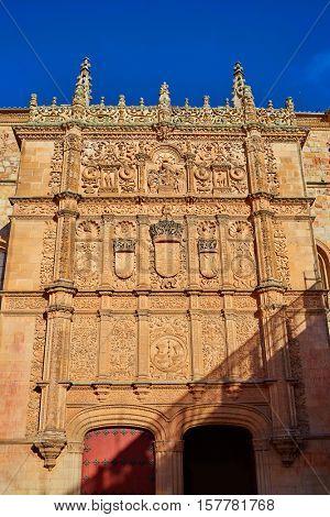 Universidad de Salamanca University facade in Spain
