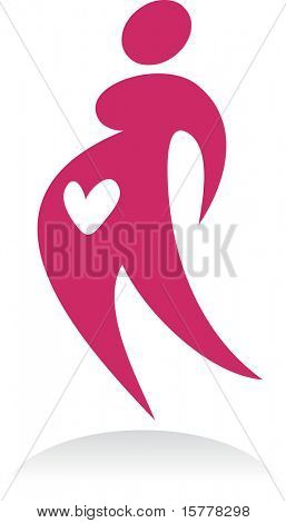 Pregnant woman, vector icon