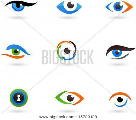 Collection of eye icons