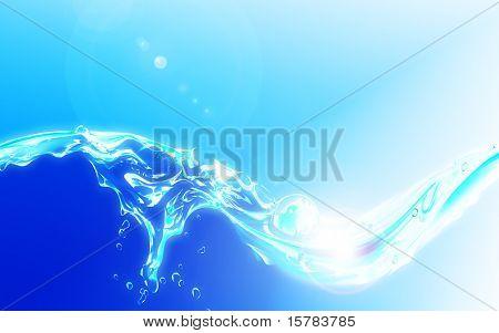 fresh luminous water