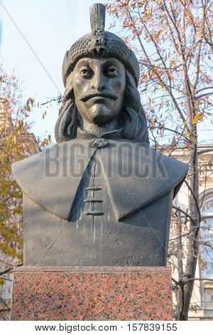 Vlad Tepes bust statue also know as Dracul Dracula