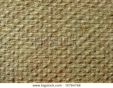 Texture of yellow fibrous dotted paper