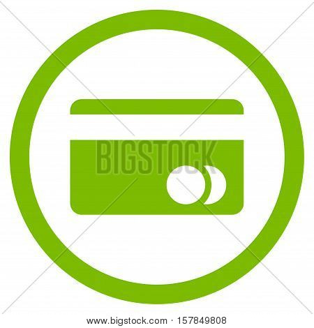 Banking Card vector rounded icon. Image style is a flat icon symbol inside a circle, eco green color, white background.