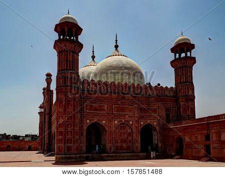Prayer Hall of Badshahi or Imperial Mosque Lahore Pakistan