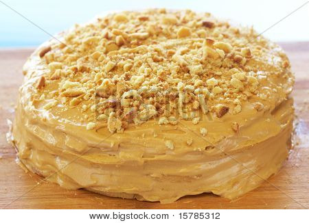 Caramel Medovik Cake