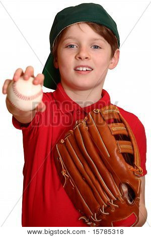 Baseball Player with Baseball